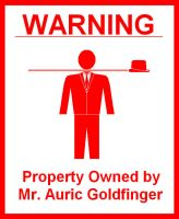 Property of Mr. Goldfinger by War-Journalist