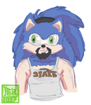 Daily sketch - N028 - 1/2 Sexys y cutes Sonics by PezAdriArts