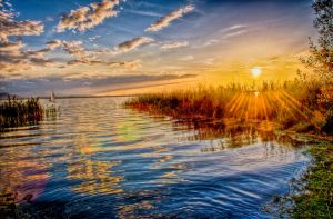 Chiemsee-strand HDR by Squadz2000