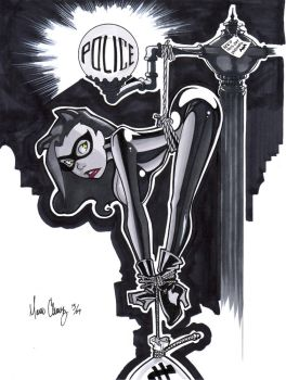 Catwoman Hanging Around, again by Uber-Stooge