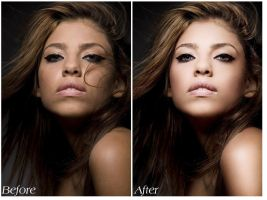 Retouch - Removing Hair by Nienna1990