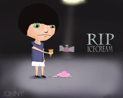 RIP ICE CREAM by arrozyasado