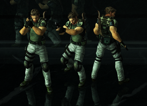 Chris BSAA Pose Pack by a-m-b-e-r-w-o-l-f