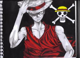 Luffy Drawing/Painting by Biohazardisonline