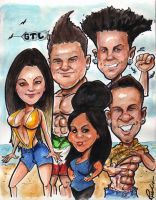 Jersey Shore caricature by rico3244