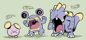 Whismur, Loudred, Exploud