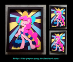 Stained Glass Pinkie Pie Shadowbox by The-Paper-Pony