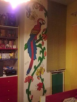 A parrot in my bedroom by Dycas98