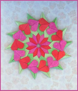 Origami Cube Wreath Instructions