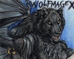 Wolfmage Badge by Goldenwolf