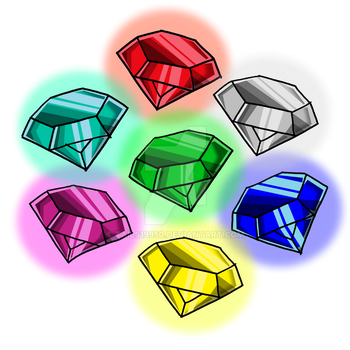 The Chaos Emeralds by Tails19950