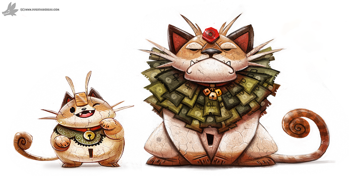 Day 796. Kanto 052 - 053 (Redo of a Redo) by Cryptid-Creations