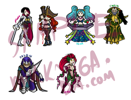 League stickers 2 by Mikkynga