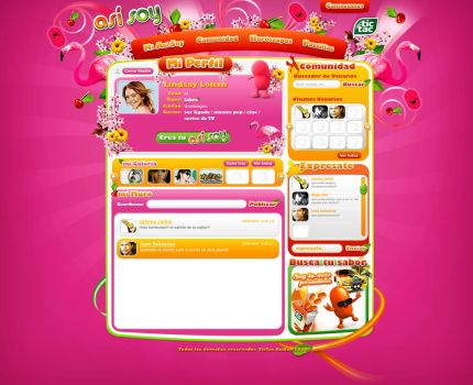 tictac mexico web design pink by diego64