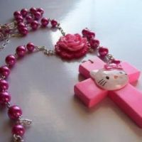 Kitty Rosary Necklace3 by Tattooed-Gumball