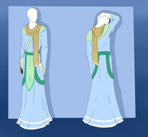 Custom Outfit Adopt - Healer Robes by ShadowInkAdopts