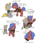 Raider and Kid Hearts and Hooves 3 COLOURED by aFriendlyHobo