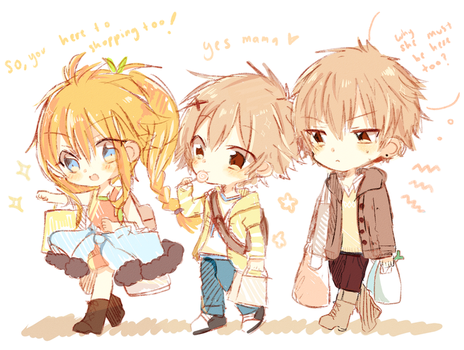 Trio goes shopping together by Relxion-kun