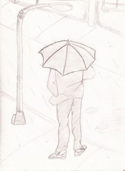 just one day in the rain by kotokothehedgehog
