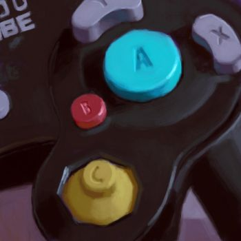 Gamecube A button by VisionarySoLe