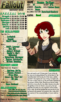 Fallout AU-Donna by DacotheTaco