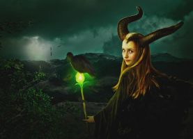 Maleficent and her Kingdom by Energiaelca1