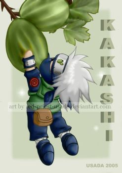 Chibi Fruit Ninja-Kakashi by Red-Priest-Usada