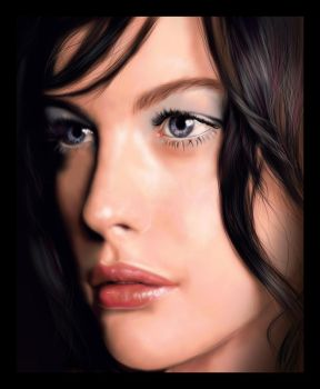 Liv Tyler Digital Painting by thesoulcanwait