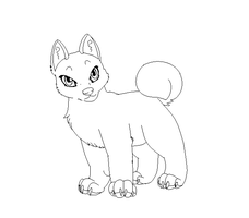 paint friendly canine lineart by Arkay9
