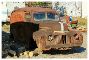 A Rusty Ford Panel Truck by TheMan268