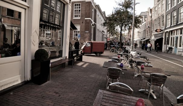 Amsterdam cafe by supaphatt