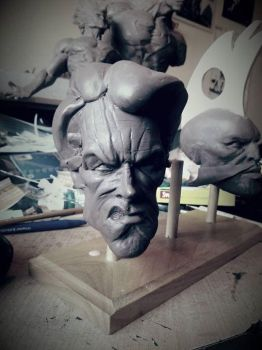 Dirty Harry / Clint Eastwood caricature WIP by logan250