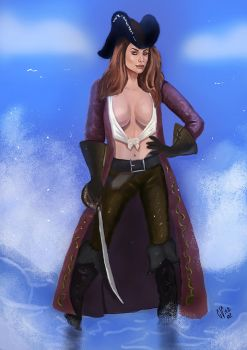 Pirate girl by IcedEdge