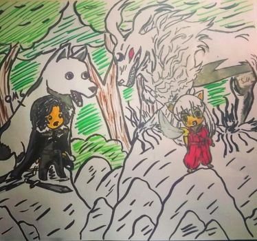 Jon snow meets inuyasha by FLASHER12