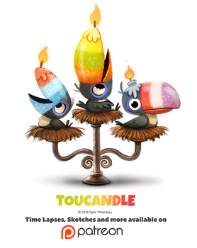 Day 1379. Toucandle by Cryptid-Creations