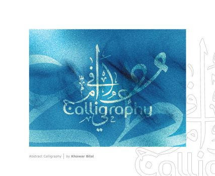 abstract calligraphy by khawarbilal