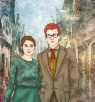 Percy Weasley and Audrey by x8xdanix6x