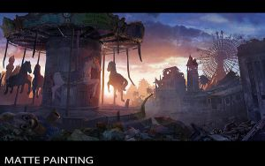 Abandoned Merry-go-Round by Concept-Art-House