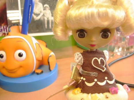 Blythe and Nemo by kebabette