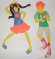Connie Luu and Utsumi Andou Paper Dolls by tranis-not-here