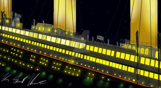 Titanic sinking 1 by Admiral-Kevin