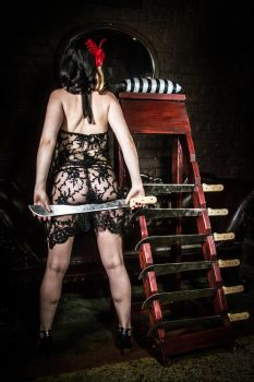 Darling Darla Jameson and her Machete Ladder 2 by Holmes-Photography