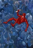 Daredevil vs The Zombies by Juggertha