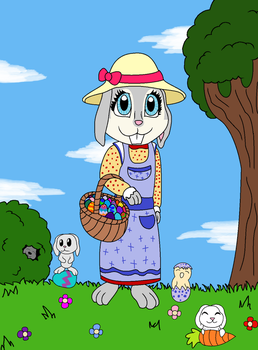 Momma Easter Bunny by Deathdreamer06