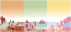 Sets on The Beach by Schorer