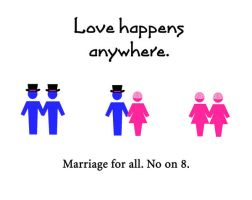 Marriage for all: No on 8 by outlawgirl265
