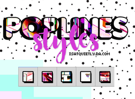 +Pop Lines Styles by ISatQuietly