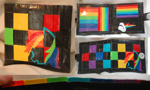 Rainbow Dash Duct Tape Wallet by OMGProductions