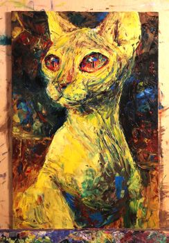 Oil painting experiment by IsidorSwande