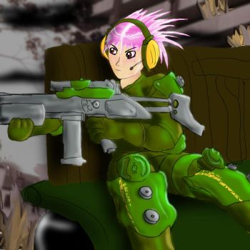 Headphones and Rifle rounds by WigglyMartian